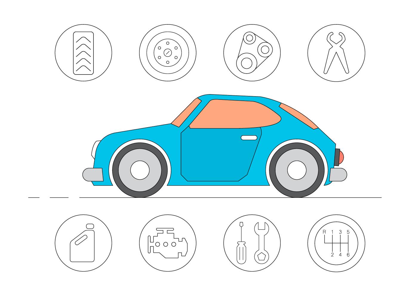 ic nes de service de voiture gratuites t l chargez de l 39 art des graphiques et des images. Black Bedroom Furniture Sets. Home Design Ideas