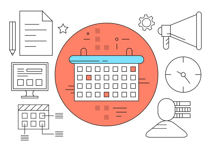 Management Planning Icons vector
