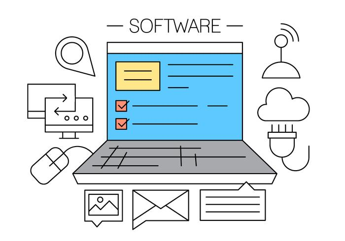 Software vector icons download free vector art stock Vector image software