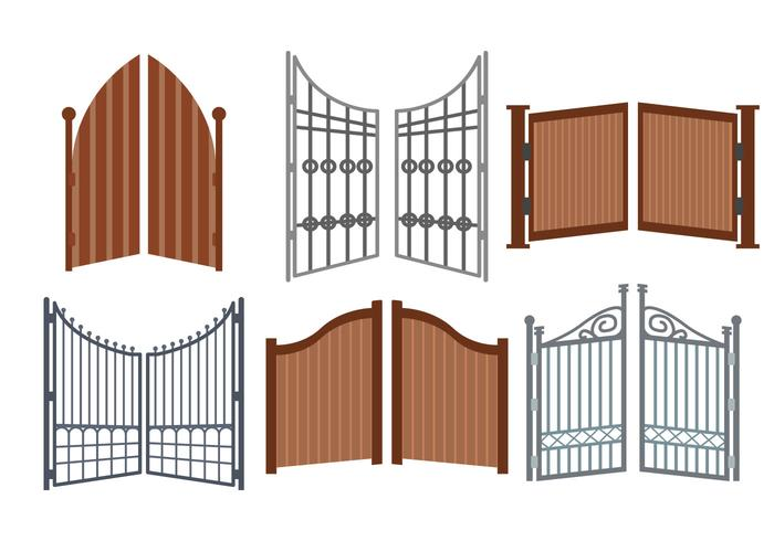 Open Gate Vector