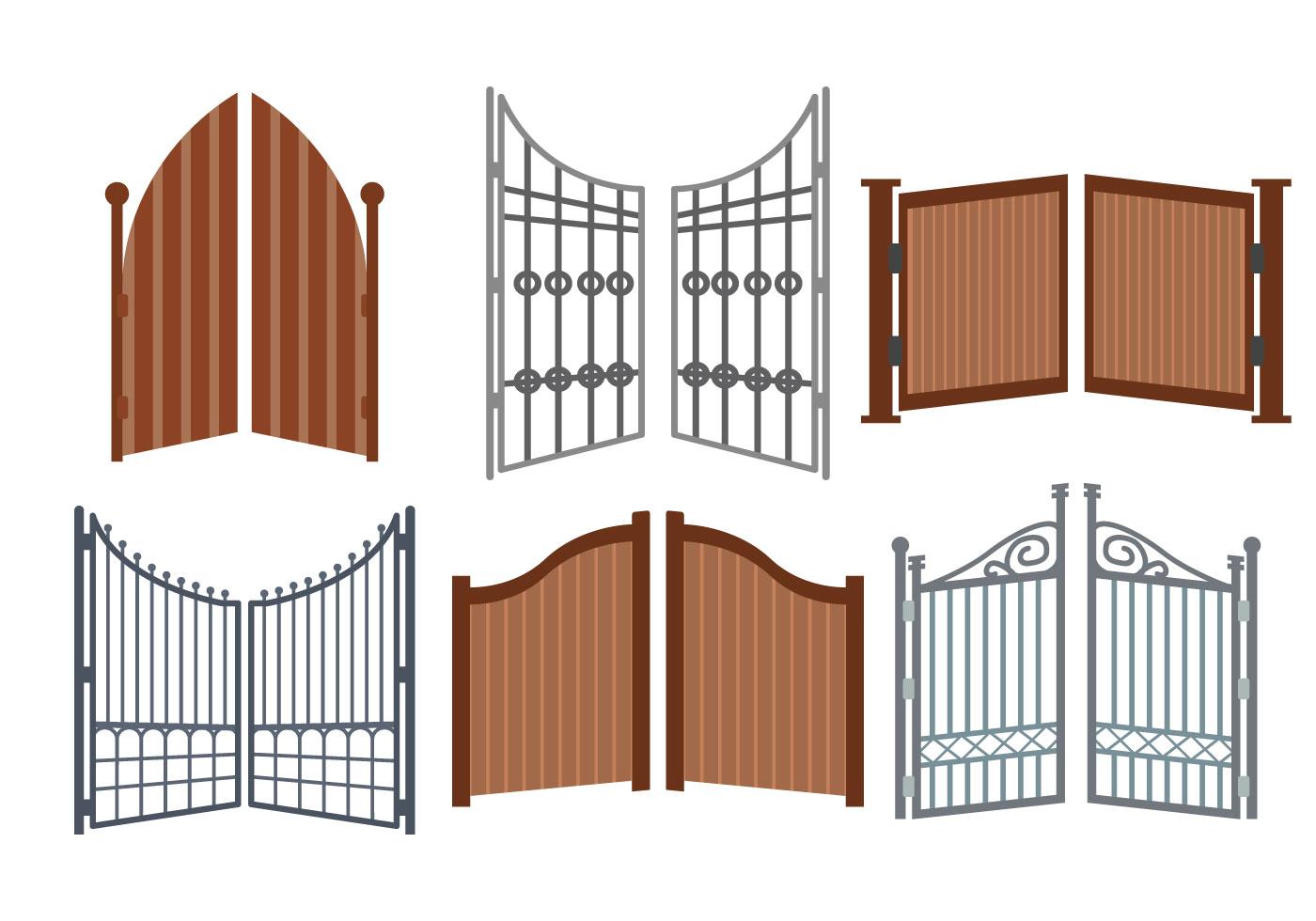 Open Gate Vector Download Free Art Stock