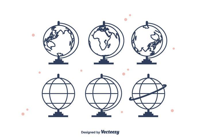 Icônes vectorielles Globus
