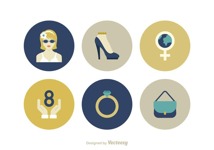 Free Women Day Vector Icons