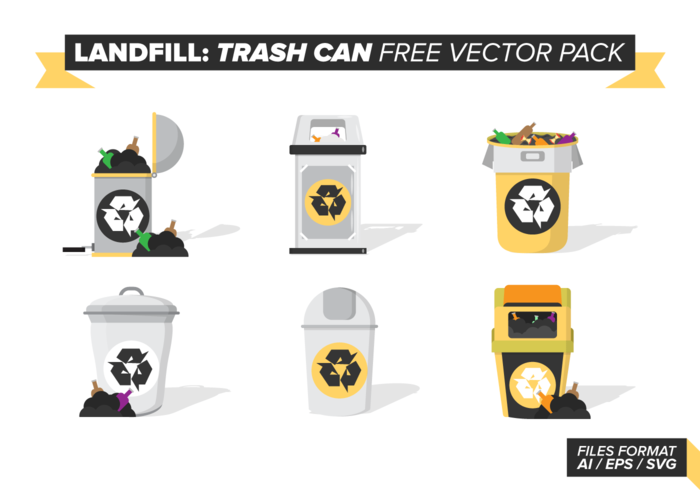 Lata de basura contenedor libre de vectores