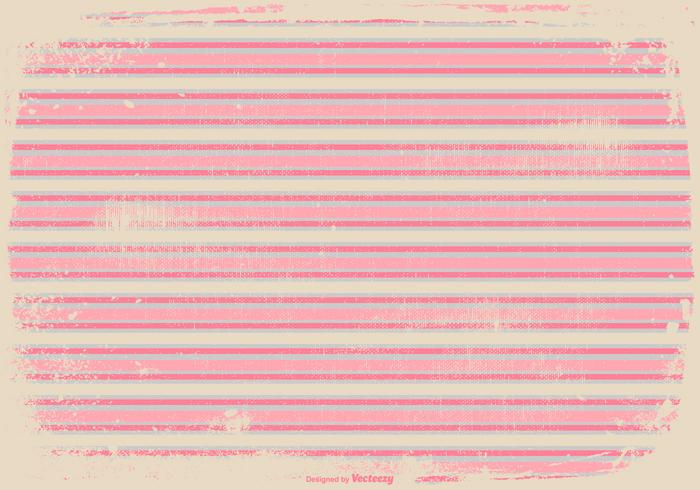 Fond d'écran rose de rayures grunge vecteur