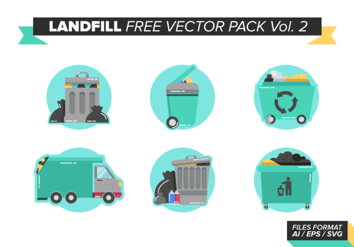Recycling en stortplaats Gratis Vector Pack Vol. 2