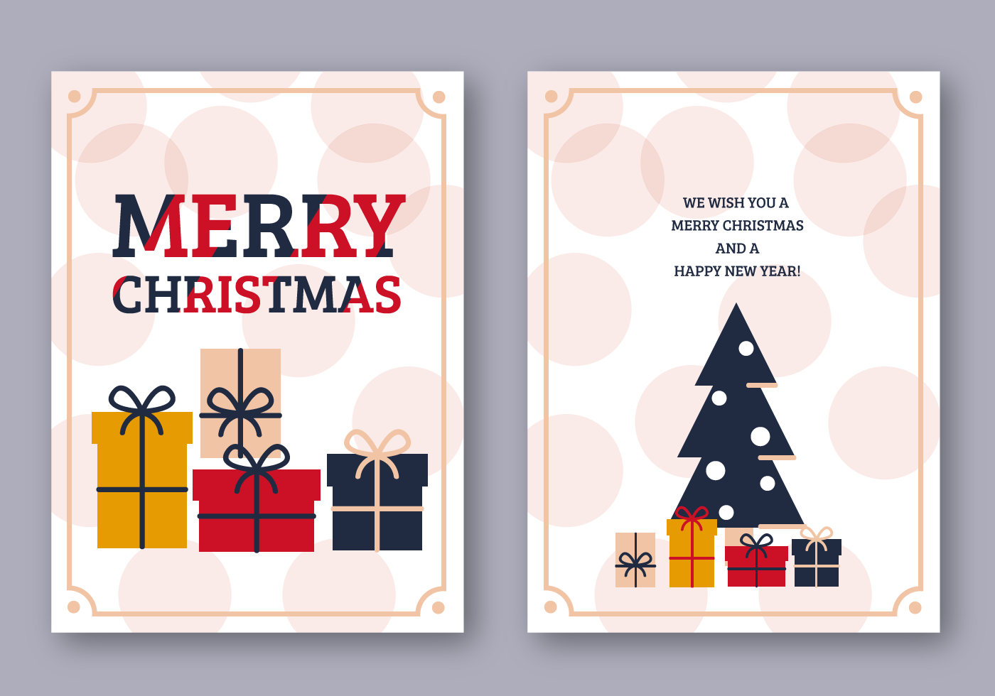 Free Merry Christmas Card - Download Free Vector Art, Stock Graphics ...