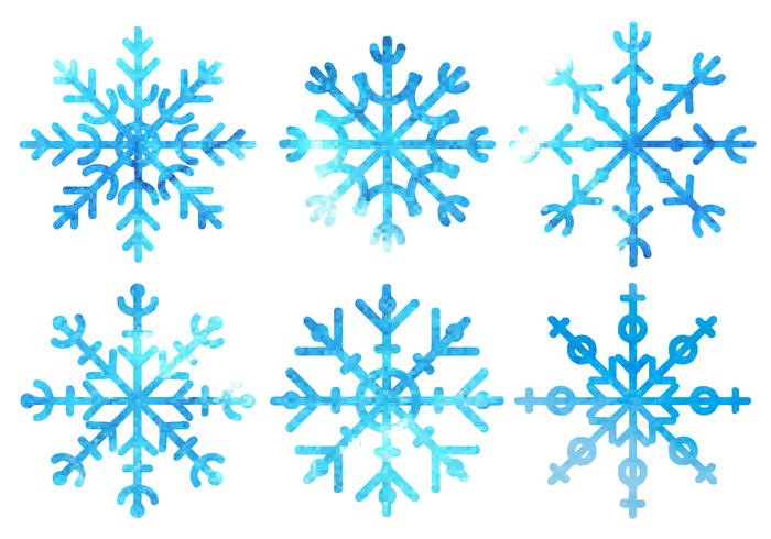 Free Watercolor Snowflakes Vector