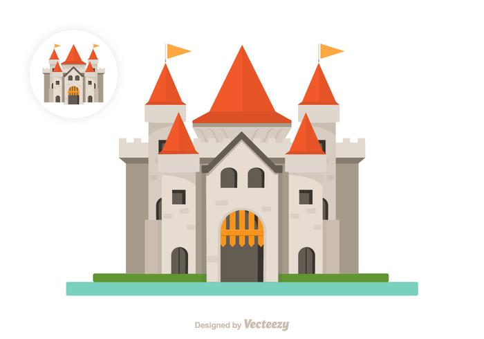 Flat Castle Vector Icon