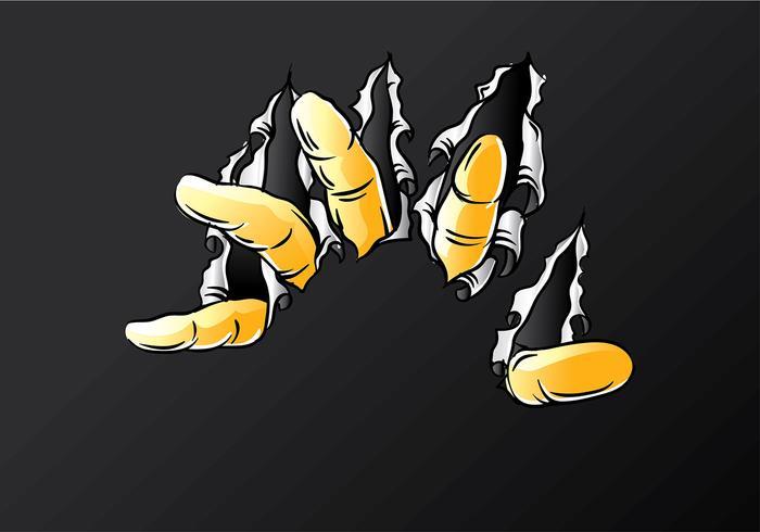 Metalen Tear Finger Free Vector