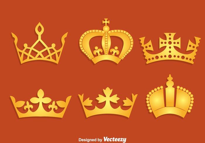 Gold British Crown Vector