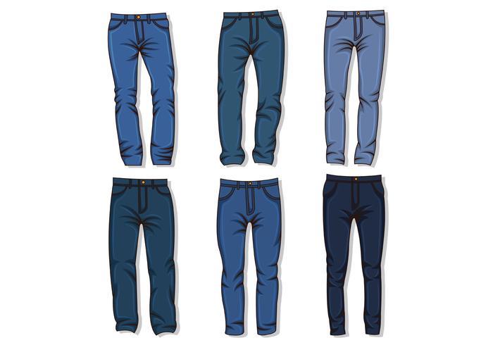 Vector De Jean Azul
