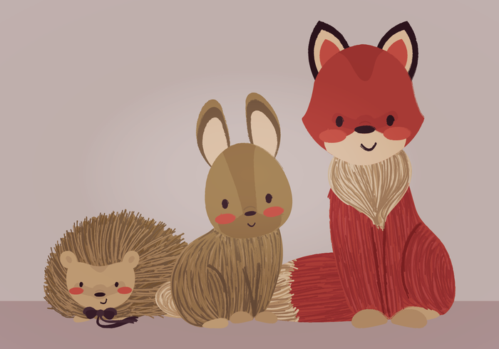 Vector Forrest Animals