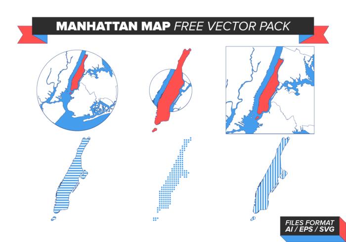 Manhattan karta gratis vektor pack