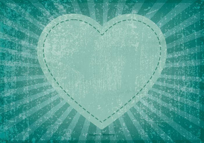 Grunge Herz Hintergrund vektor