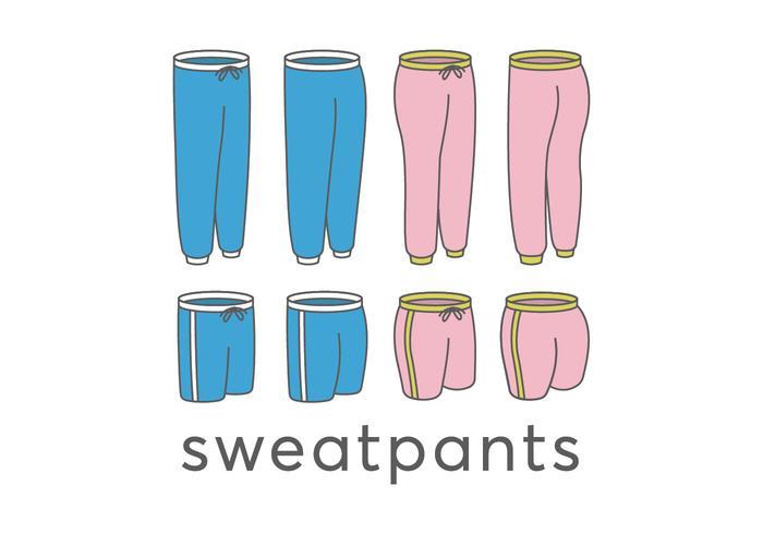 Sweatpants vectors