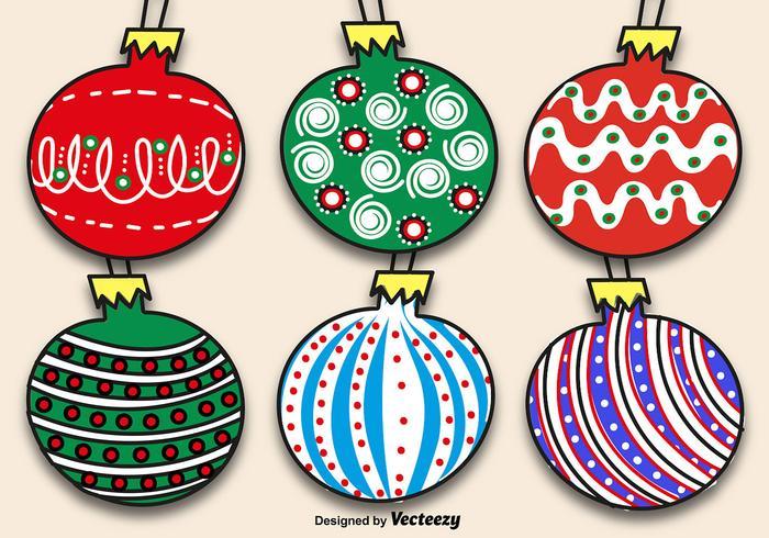 Ensemble de boules de Noël à la main
