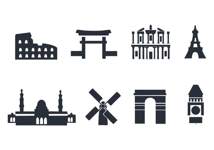 Gratis Landmark Pictogrammen Vector