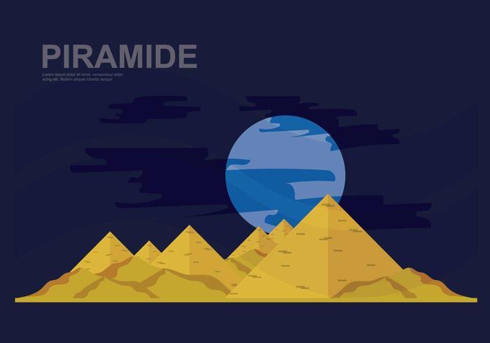 Illustrazione di Piramide gratis vettore