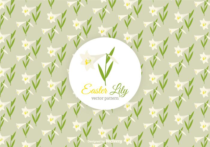 Padrão livre do vetor do lírio de Easter