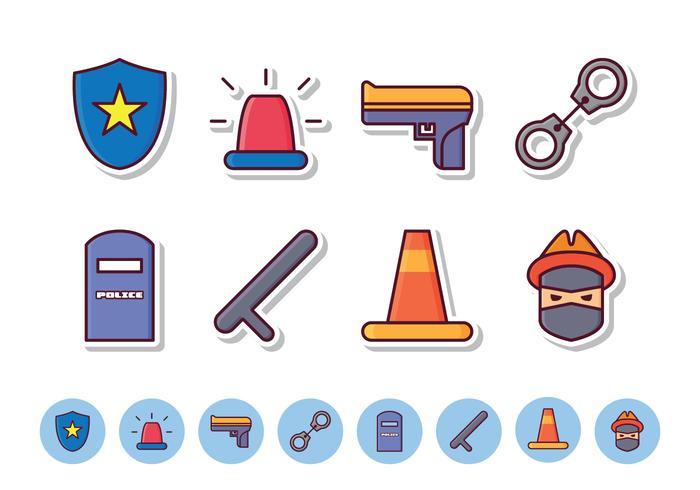 Ensemble d'icônes de police gratuit