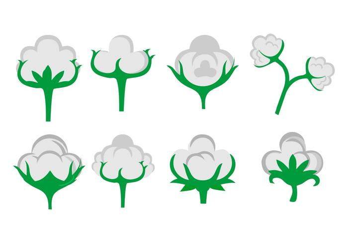 Free Cotton Flower Icons Vektor