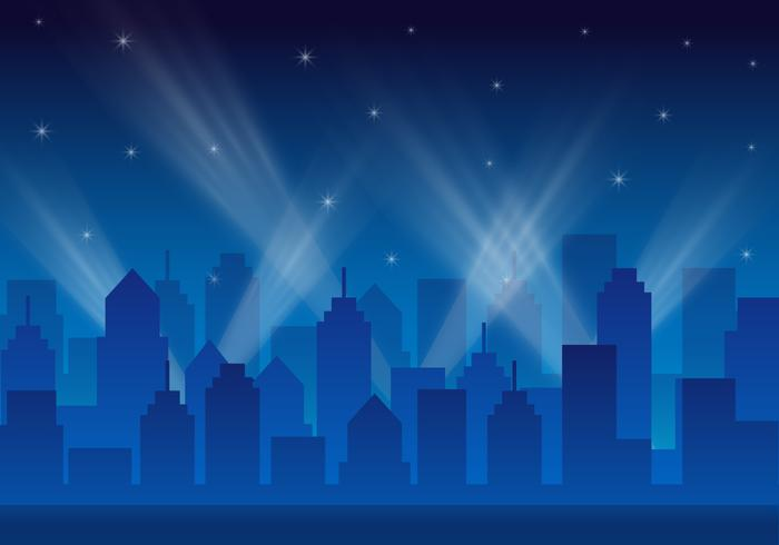 City Lights Landscape Vector