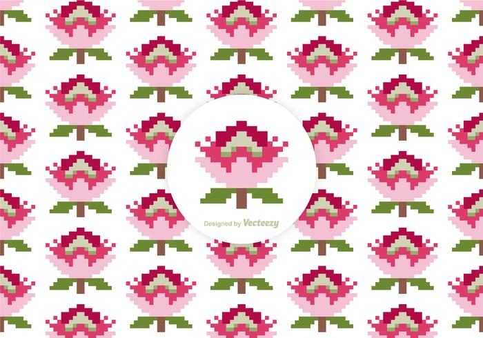 Free Protea Pixel Vector Pattern
