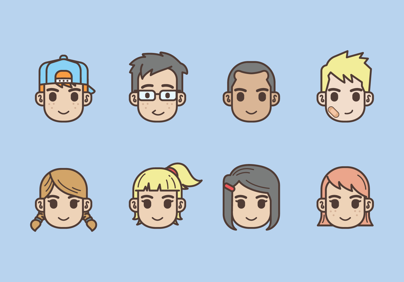 Free Kids Avatars Icon Download Free Vector Art Stock