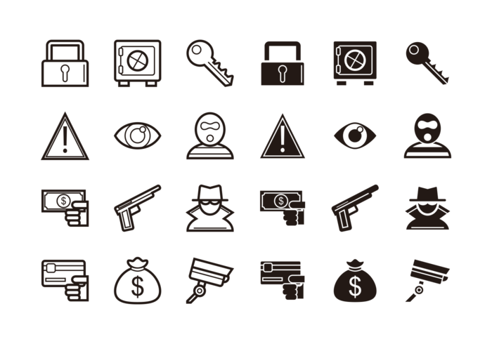 Theft Icons Vector