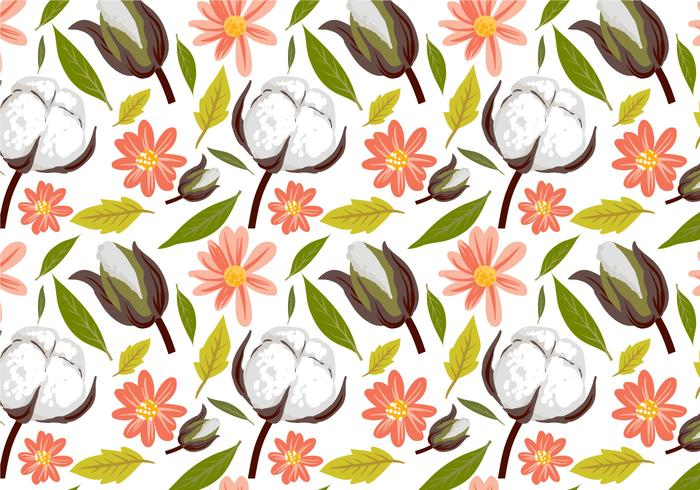 Free Cotton Pattern Vectors