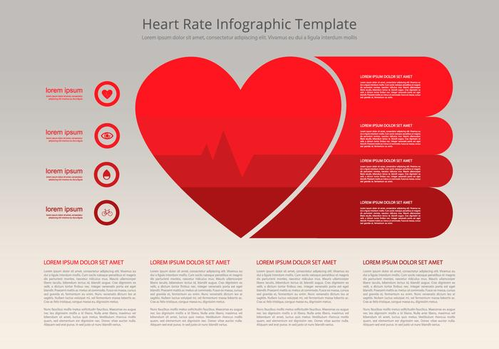 Heart Rate Infographic Flat Template Download Free Vector Art – Heart Rate Chart Template