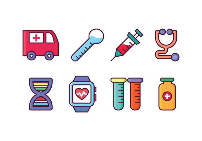 Free Medical Icon Set vector