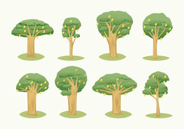 Vector libre del árbol del mango