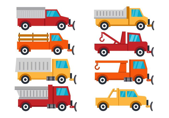 Free Vehicle Snow Plow Vector Illustration