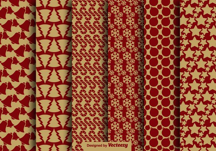 Kerstmis Vintage Style Naadloze Patroon Vector