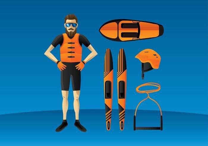 Water Skiing Equipment Free Vector