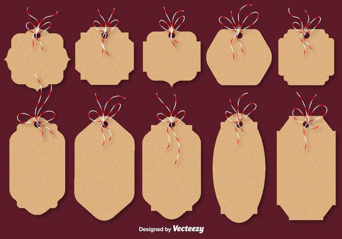 Christmas Cardboard Vector Cards