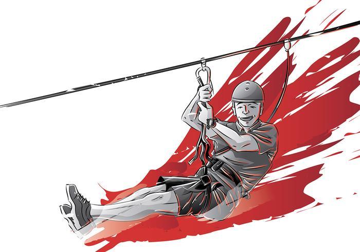 Zipline Free Vector