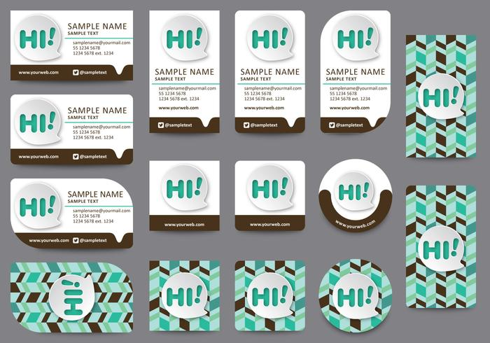 Communication Name Card Templates