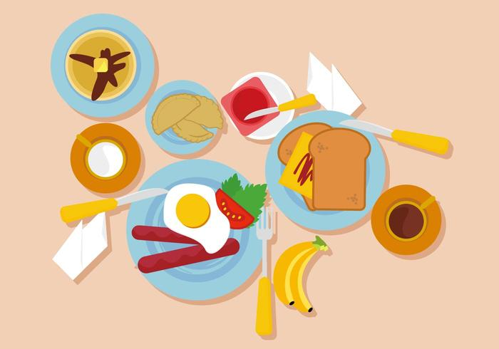 Gratis frukost Vector Illustration