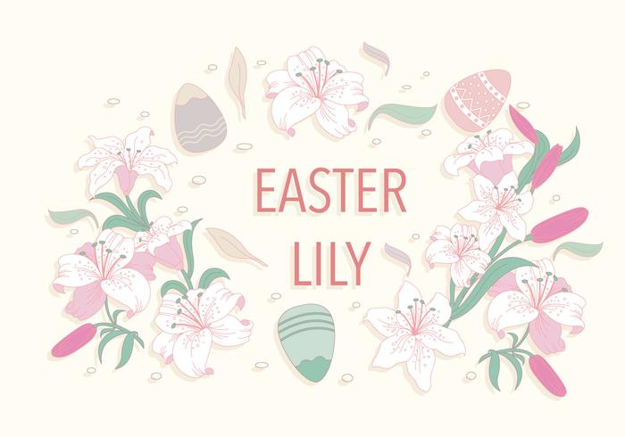 Easter Lily Frame Vector
