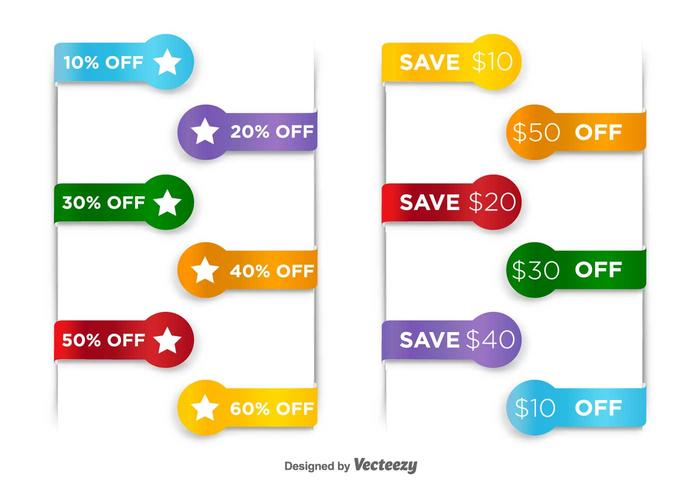Price Discount Vector Tags