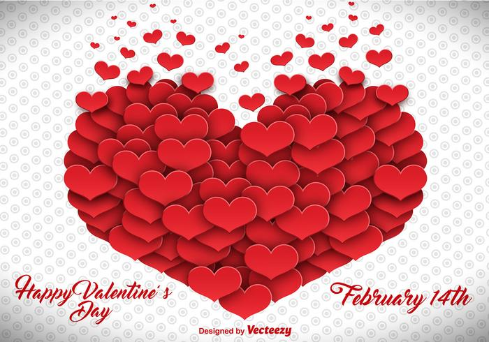 Vector Heart Made Of Hearts