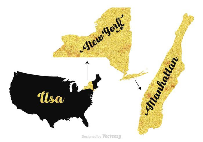 Free Manhattan - New York - USA vector map