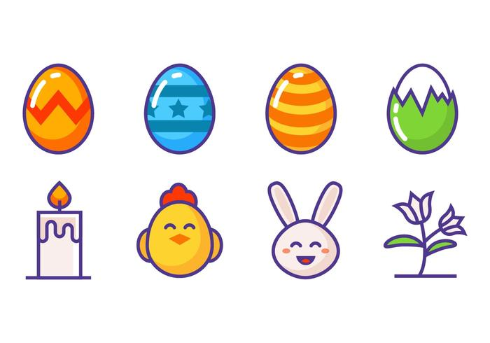 Free Easter Icons Vector