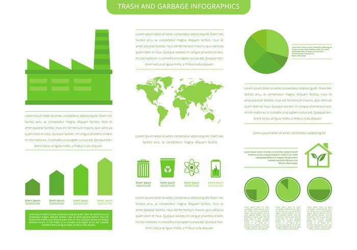 Trash Landfill And Garbage Infographic Template vector