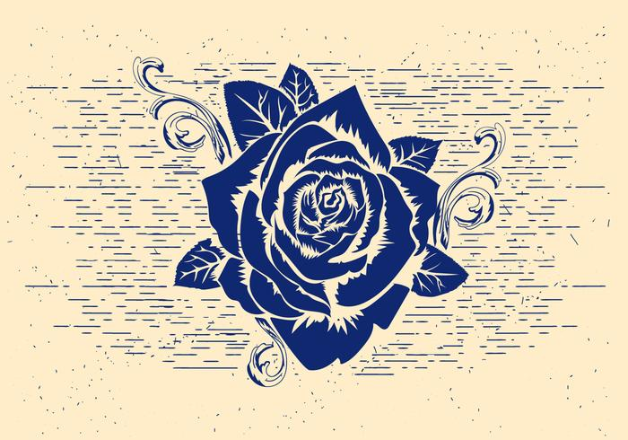 Free Vector Rose Stencil