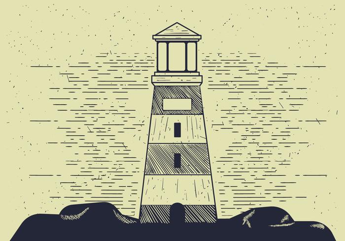 Free Detailed Vector Lighthouse Illutration