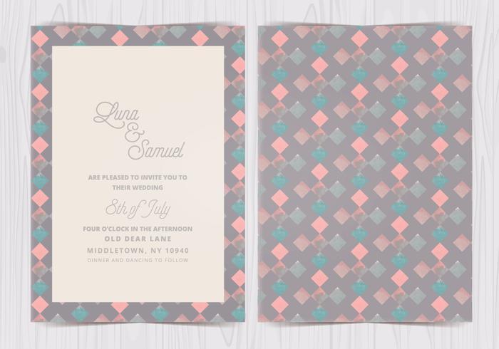 Vector Geometric Pattern Wedding Invite